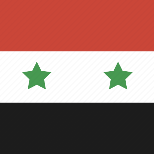 flag, square, syria icon