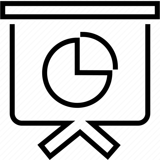 board, chart, finance, pie, presentation, statistics icon