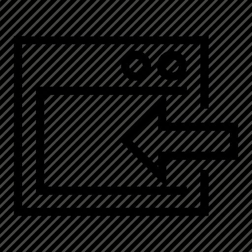 in, input, recieve, transfer, window icon