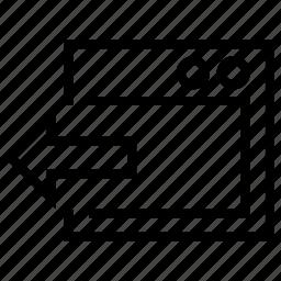 out, output, send, tranfer, window icon