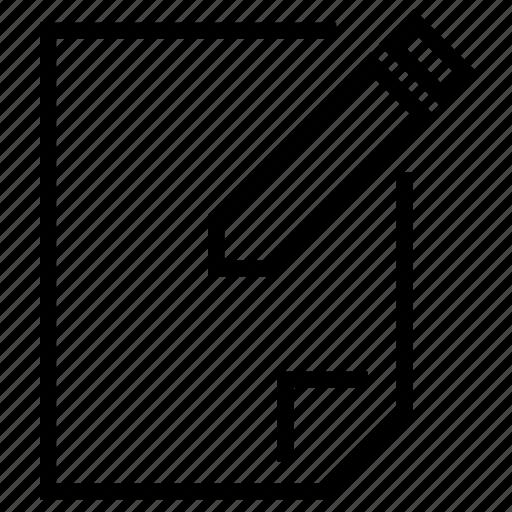 document, edit, file, pen, sheet, write icon