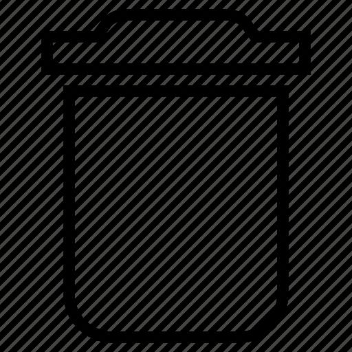 bin, delete, garbage, recycle, remove icon