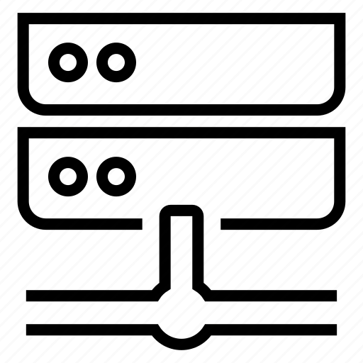 connection, internet, network, rack, servers, storage icon