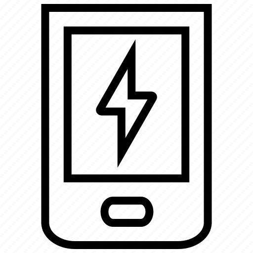 charge, mobile, phone, power, smartphone icon