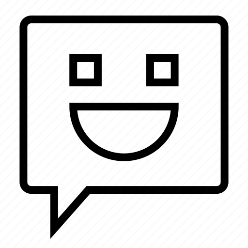 chat, message, smilie, sms, text icon