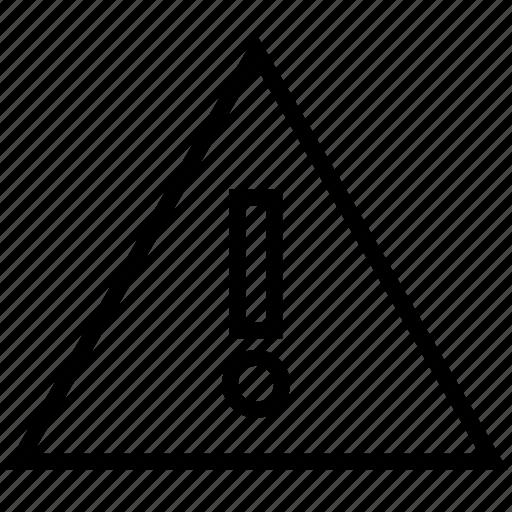 alert, danger, fault, warning icon