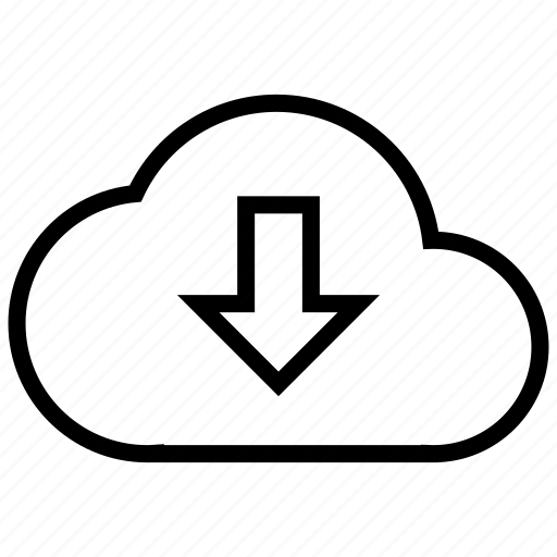 cloud, data, download, network, online, storage icon