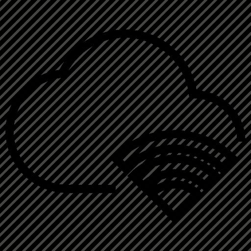 cloud, data, network, online, wireless icon