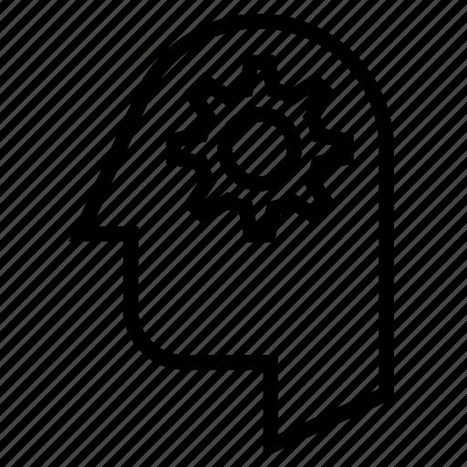 account, head, human, person, profile, settings icon