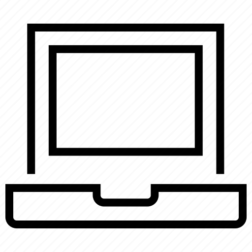 computer, device, display, laptop, portable icon