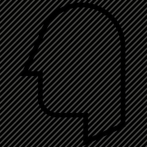 .brain, head, human, person, profile icon