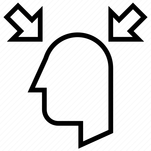 arrow, head, health, healthcare, human, scan icon