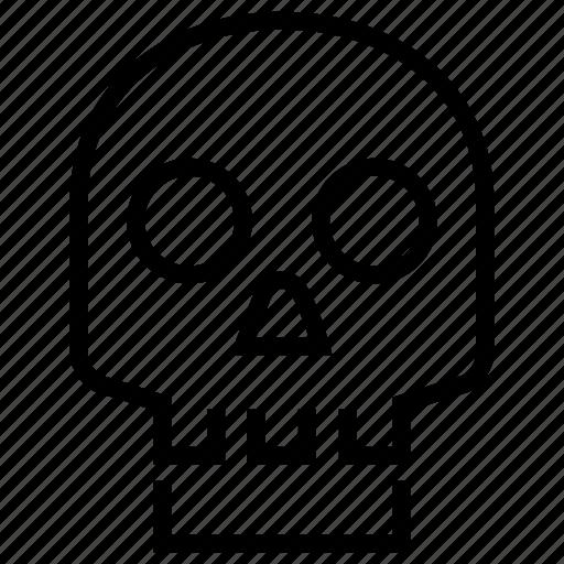 bones, death, human, skeleton, skull icon