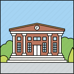 architecture, building, city, city hall, facade, infrastructure, town hall icon
