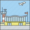 air travel, airport, architecture, building, city, infrastructure, transportation icon