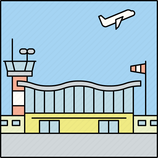 Air travel, airport, architecture, building, city, infrastructure, transportation icon - Download on Iconfinder