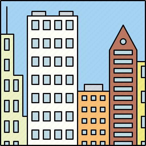 architecture, buildings, city, highrise, infrastructure, skyscrapers icon