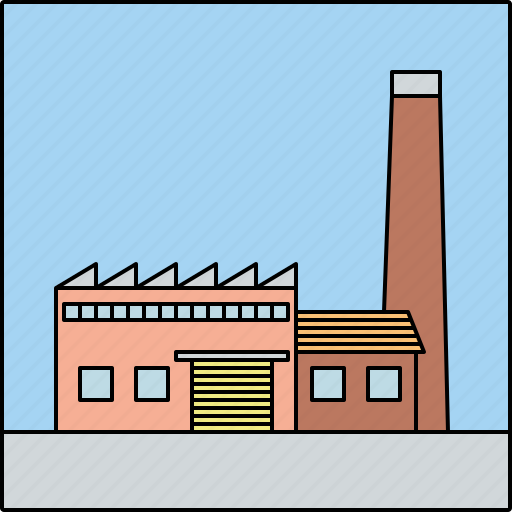 architecture, building, city, factor, industry, infrastructure, plant icon