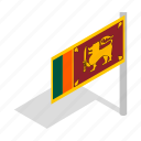 banner, country, flag, isometric, lanka, national, sri icon
