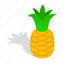 fruit, isometric, juicy, lanka, pineapple, ripe, sri icon
