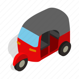 asia, car, isometric, taxi, transport, travel, vehicle icon