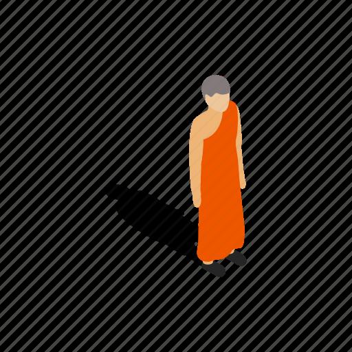 buddhism, buddhist, isometric, lanka, monk, religion, sri icon