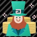 celebration, coins, holiday, irish, leprechaun, st patrick icon
