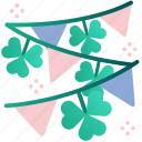 celebration, st patrick, holiday, flags, decoration, clover, irish
