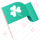 celebration, clover, flags, irish, luck, shamrock, st patrick icon