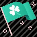 celebration, st patrick, luck, flags, clover, irish, shamrock