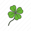 clover, green, leaf, luck, lucky clover, st.patrick's day, three leaf clover icon