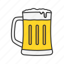 beer, beverage, drink, frothy beer, glass, liquor, mug