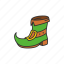 boots, drawf boots, footwear, green boots, leprechaun boots, shoes, st.patrick attire