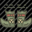 boots, leprechaun, patrick, shoes