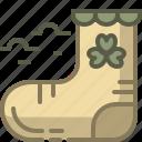 cloth, patrick, shamrock, sock
