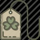 clover, patrick, shamrock, tag