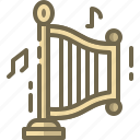 harp, instrument, music, string