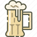 beer, drink, mug, patrick