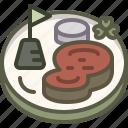 beef, cabbage, patrick, steak icon