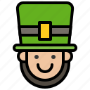 avatar, face, pilgrim, saint patrick icon