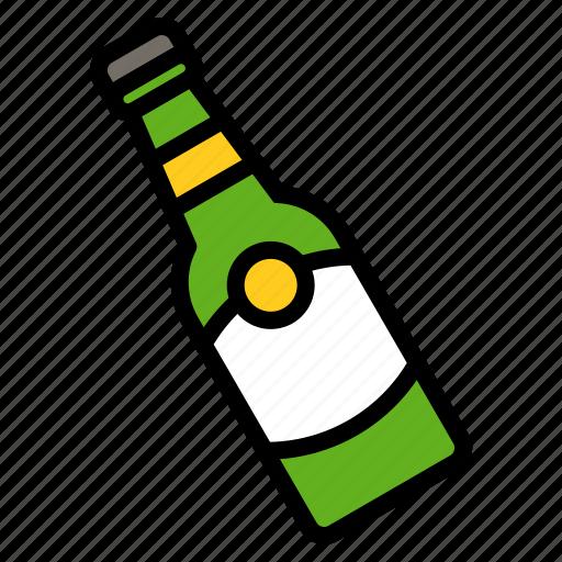 beer, beverage, bottle, drinks icon