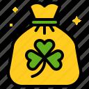bag, clover, saint patrick, seed