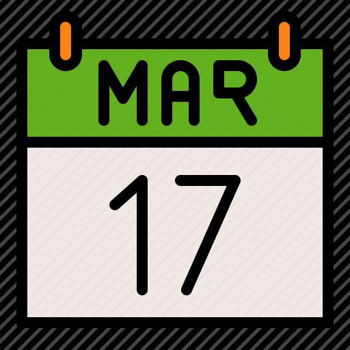 calendar, date, day, festival, saint patrick icon