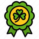 award, badge, clover, saint patrick icon