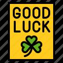 card, clover, good luck, greeting card, saint patrick