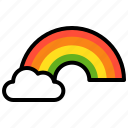 cloud, light, rainbow, saint patrick icon