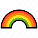 light, nature, rainbow, spectrum icon
