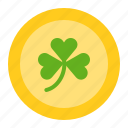 clover, coin, money, saint patrick