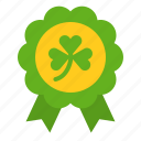 award, badge, clover, saint patrick