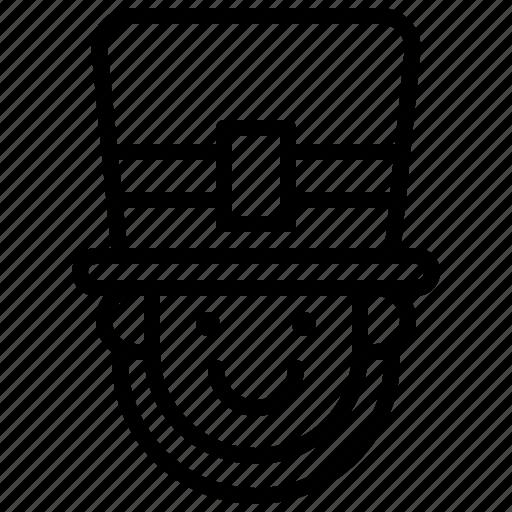 avatar, face, pilgrim, saint patrick icon